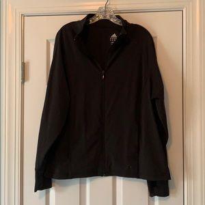 Black adidas workout jacket